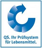 QS Logo mit Verlauf blau deutsch